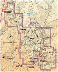 map of zion national park zion national park cing survival cing series
