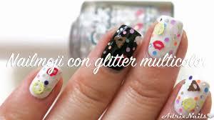 nailmoji de color club con glitter multicolor youtube