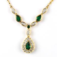 diamond set emerald diamond necklace parkhouse antiques jewellery