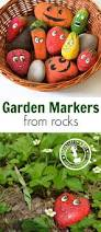 how to make garden markers by painting stones