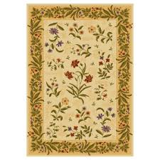 Area Rugs Shaw Shaw Living Summer Flowers Rectangular Yellow Floral Area Rug