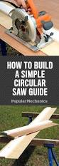 to build a simple circular saw guide for straighter cuts