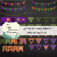 halloween pennant banner spooky chalk bunting banners diy pennant banners flag graphics