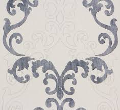 wallpaper grey baroque ornaments rasch 849813