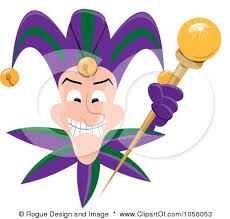 mardi gras joker royalty free vector clip illustration of a black and white