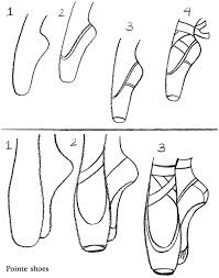coloring u0026 activity pages how to draw ballet pointe shoes feet