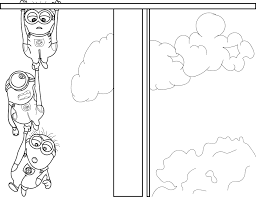 2013 despicable me 2 minions coloring page wecoloringpage