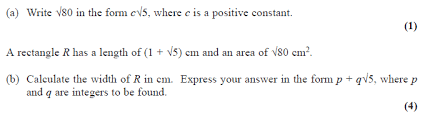 exam questions surds examsolutions