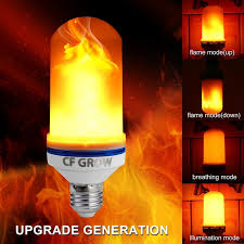 led flame effect fire light bulbs e26 e27 led flame effect fire light bulb smd2835 flickering