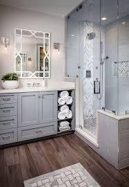bathroom idea pictures corner bathroom idea with grey cabinets white countertop mirror