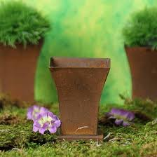 Tin Flower Vases Small Rusty Tin Flower Vases Pails Tubs And Buckets Rusty Tin