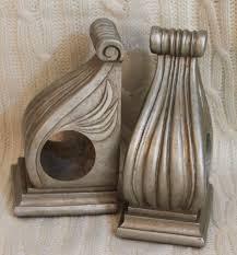 corbel drapery curtain rod holder set of two decorative resin