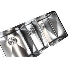 Triple Basin Kitchen Sink by 42 Inch Stainless Steel Undermount Triple Bowl Kitchen Sink 15mm