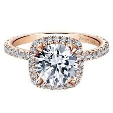 engagement rose rings images 18k rose gold amavida round halo diamond engagement ring rose jpg