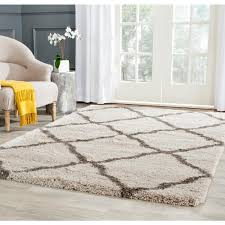 Home Depot Area Carpets Safavieh Belize Shag Taupe Gray 3 Ft X 5 Ft Area Rug Sgb489d 3