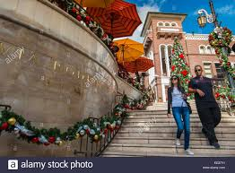 via rodeo staircase with christmas decorations beverly hills los