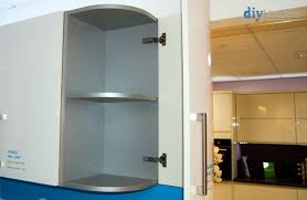 glass kitchen wall unit doors how do i attached curved wall units diy kitchens advice