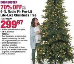 9 u0027 noble fir pre lit christmas tree 299 97 at boscovs on black