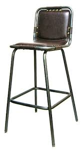 Upholstered Bar Stools With Backs Padded Seat And Back Industrial Metal Upholstered Bar Stool