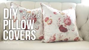 Couch Pillow Slipcovers Sew A Piped U0026 Zippered Pillow Cover Video Tutorial The Diy Mommy