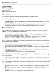 Nuclear Medicine Technologist Resume Examples 100 Med Tech Resume Sample Pharmacy Technician Resume Sample No
