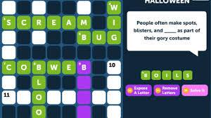 crossword quiz halloween level 1 walkthrough youtube