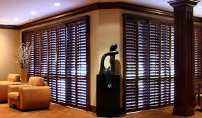 Lowes Shutters Interior Decor Dark Bali Blinds Lowes With Dark Crown Molding And Ceiling