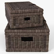 wicker basket 6 walnut brown color 3d model cgtrader