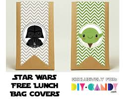 free star wars printables lunch bag covers diycandy