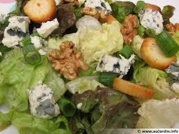 cuisine salade salade de roquefort noix recette de cuisine