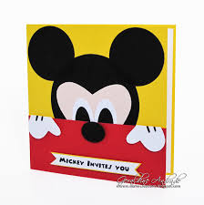 Mickey Mouse Invitation Card Mafer U0027s Creations Mickey Mouse Invitation Invitacion De Mickey