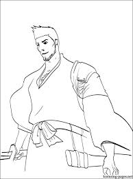 isshin kurosaki bleach coloring page coloring pages