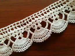 Lace Trim Curtains Vintage Lace Edge Crocheted Cotton Trim Crochet Lace Trim Home