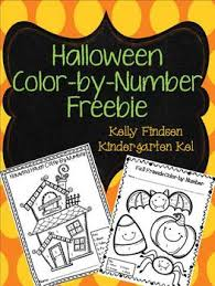 free halloween color number printable