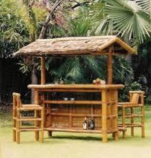 bamboo tiki hut bar and chairs outdoor tiki hut