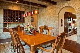 Tuscan Dining Room Tuscan Custom Home On Golf Course
