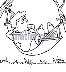 free drawing of hammock man bw from the category building home