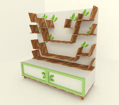 decorations simple design small conceal booktree with wooden wall