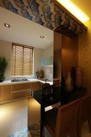 southeast asian style open kitchen bar decoration interior design