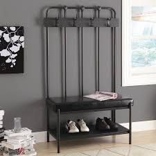 Hall Tree Shop Monarch Specialties Transitional Charcoal Grey Hall Tree