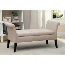 Furniture Of Bedroom Furniture Of America Alistar Fabric Upholstered Storage Accent