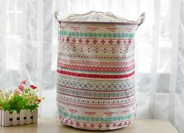 cute laundry bags 35x45cm pastoral laundry basket with cover washing laundry bag