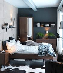 tiny bedroom paint color ideas with shelf and sofa also storage
