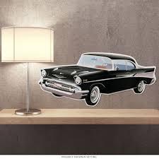 chevrolet bel air 1957 classic car cutout sign chevy garage