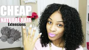 Hair Extension Clip Ins Cheap by 4 Cheap Natural Hair Extensions Youtube