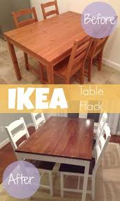 Ikea Dining Table And Chairs by Best 25 Dining Table Makeover Ideas On Pinterest Dining Table