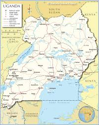 Rwanda Africa Map by Political Map Of Uganda Nations Online Project