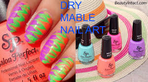 how to do dry marble without water water marble nail art