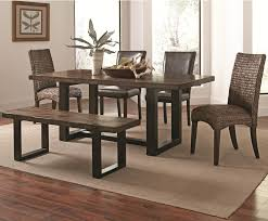 boraam bloomington dining table set direct 6 piece dining set with bench coaster westbrook casual rustic