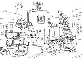 Lego Fire Station Coloring Page For Kids Printable Free Lego Lego Coloring Pages For Boys Free
